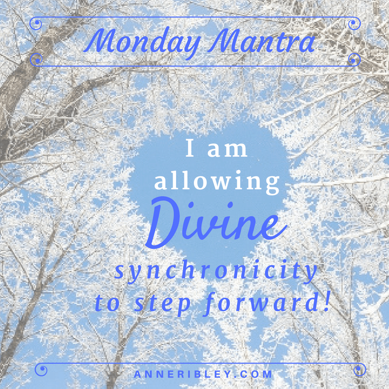 I am allowing DIVINE synchronicity to step forward!